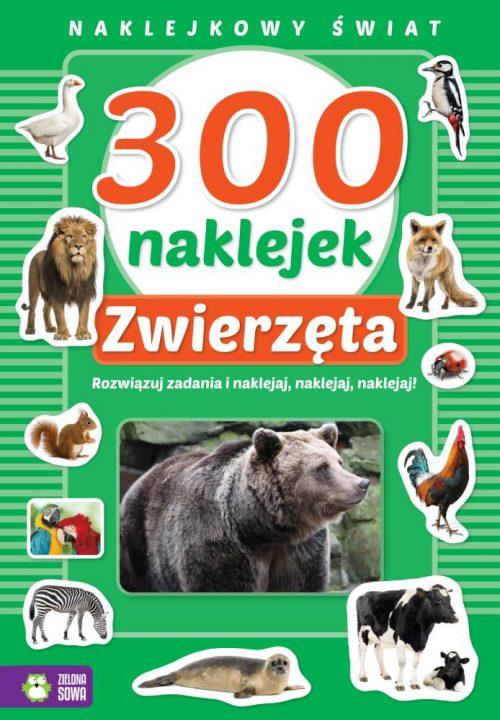 Naklejkowy świat 300 naklejek zwierzęta Zielona Sowa
