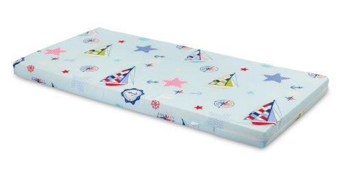 Materac 120x60 do lóżeczek dzieciecych piankowy niebieskie żaglówki