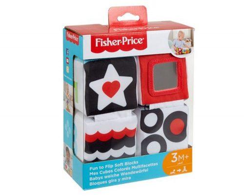 Miękkie klocki sensoryczne dla niemowląt GCF37 Fisher Price 3m+