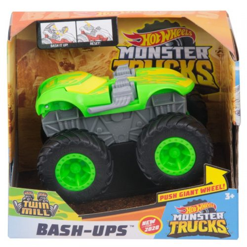 Hot Wheels Monster Truk pojazd z kraksą GDK32