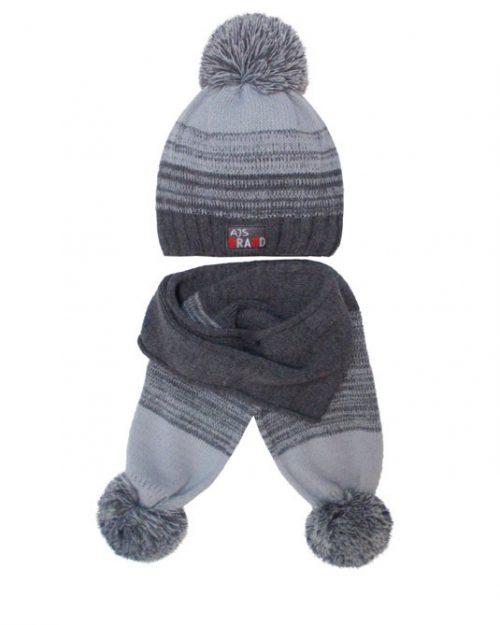 Zimowy komplet dla dziecka czapka + szalik 50-52