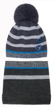 Zimowy komplet czapka + tuba komin 50-52