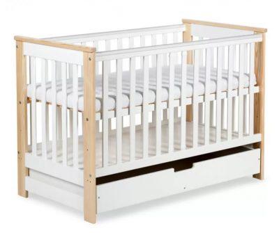 łóżeczko dziecięce buk biały łóżko 120x60