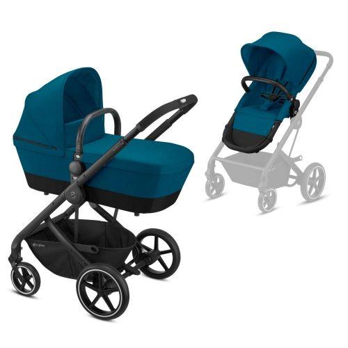 Wózek głęboko spacerowy Cybex Balios S zestaw 2w1 kolor River Blue