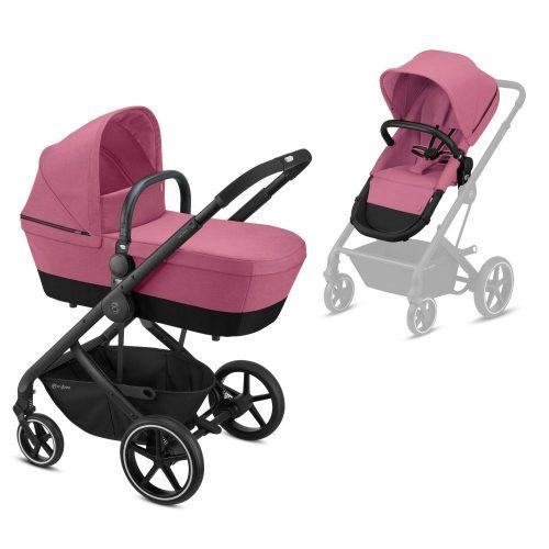 Cybex Balios S zestaw 2w1 wózek głęboko spacerowy kolor Magnolia Pink