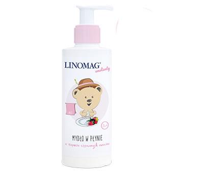 Mydło w płynie dla niemowląt i dzieci 7m+ 200ml Linomag czerowne owoce