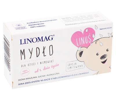 Mydło w kostce dlla niemowląt i dzieci 0m+ Linomag 100g  od urodzenia