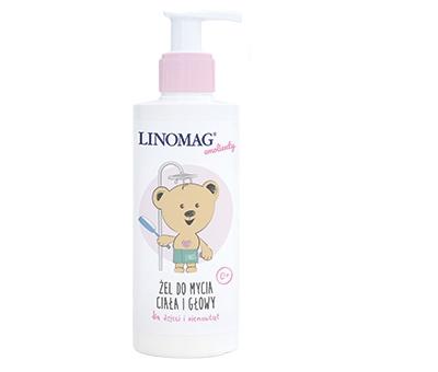 Żel do mycia głowy ciemieniuszki i ciała od 0m+ 200ml Linomag  od urodzenia