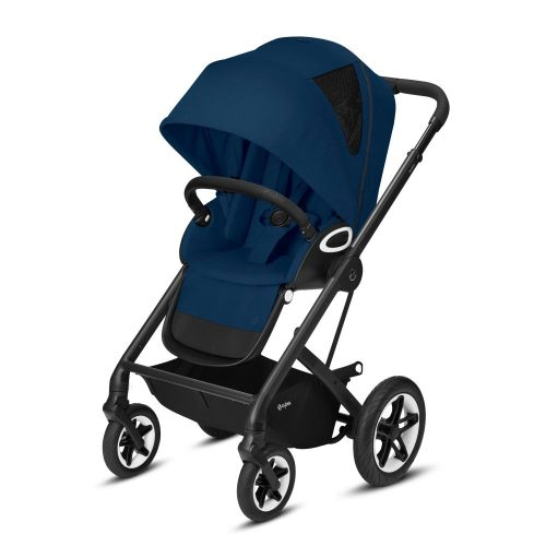 Cybex Talos S LUX wózek spacerowy kolor Navy Blue rama Czarna