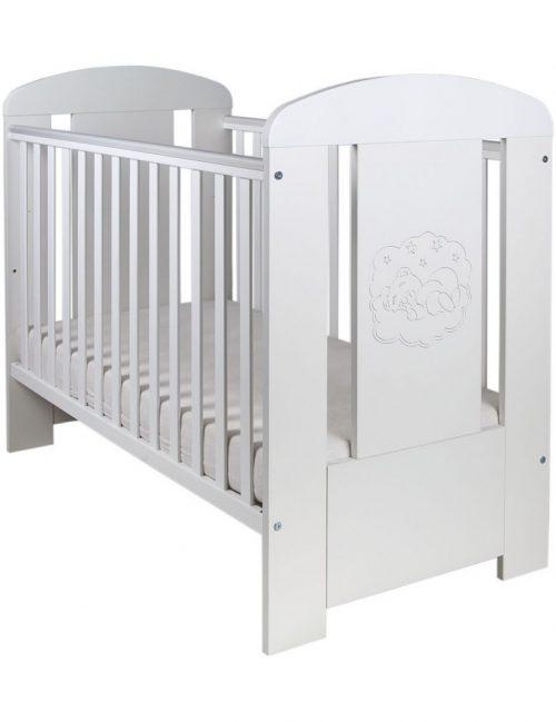 Drewniane łóżeczko tapczanik 120x60 Miś biały Comfort Drewex