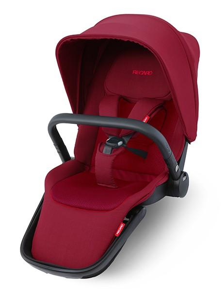 Siedzisko spacerowe do wózka spacerowego Recaro Celona, Sadena kolor Select Garnet Red