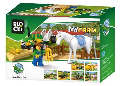Blocki klocki My Farm mały ciągnik traktor KB0318 43el