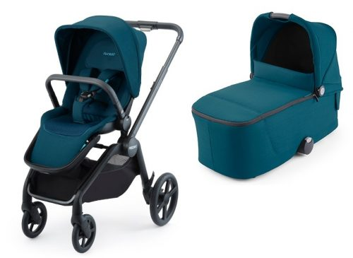 Luksusowy wózek głęboko spacerowy Recaro Celona zestaw 2w1 kolor Select Teal Green