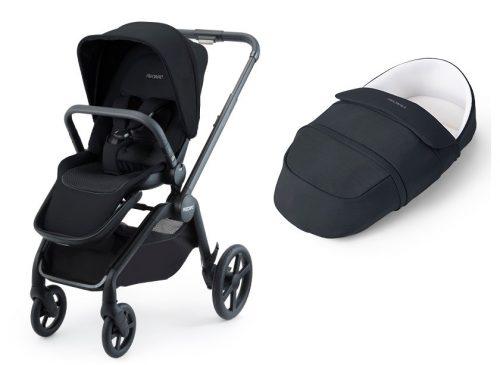Recaro Celona wózek głęboko spacerowy z lekką gondolą 2w1 kolor Select Night Black