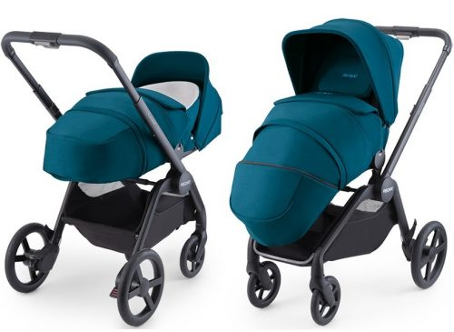 Wózek głęboko spacerowy do 22 kg z miękką gondolą Recaro Celona kolor Select Teal Green