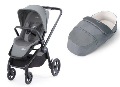 Recaro Celona wózek głęboko spacerowy z lekką gondolą 2w1 kolor Prime Silent Grey