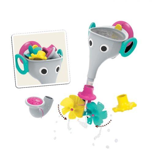 Yookido zabawki do kąpieli dla dzieci i niemowląt Słoń FunElefun szary