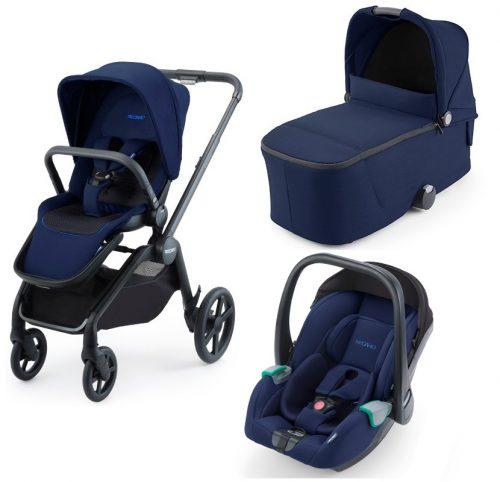 Wózek głęboko spacerowy Recaro Celona zestaw 3w1 z fotelikiem Recaro Avan kolor Select Pacific Blue