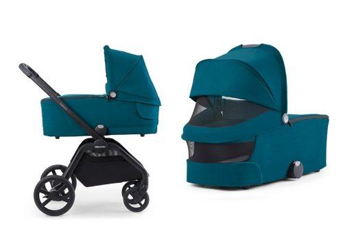 Luksusowy wózek głęboko spacerowy Recaro Celona zestaw 4w1 z fotelikiem 0-13 kg Recaro Avan i bazą isofix kolor Prime Pale Rose