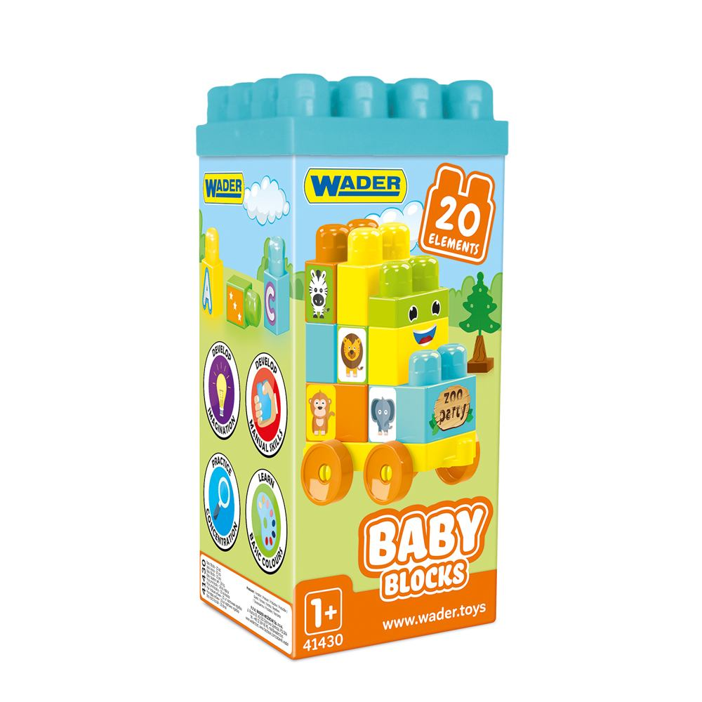 Wader duże klocki karton 20 szt Baby Blocks