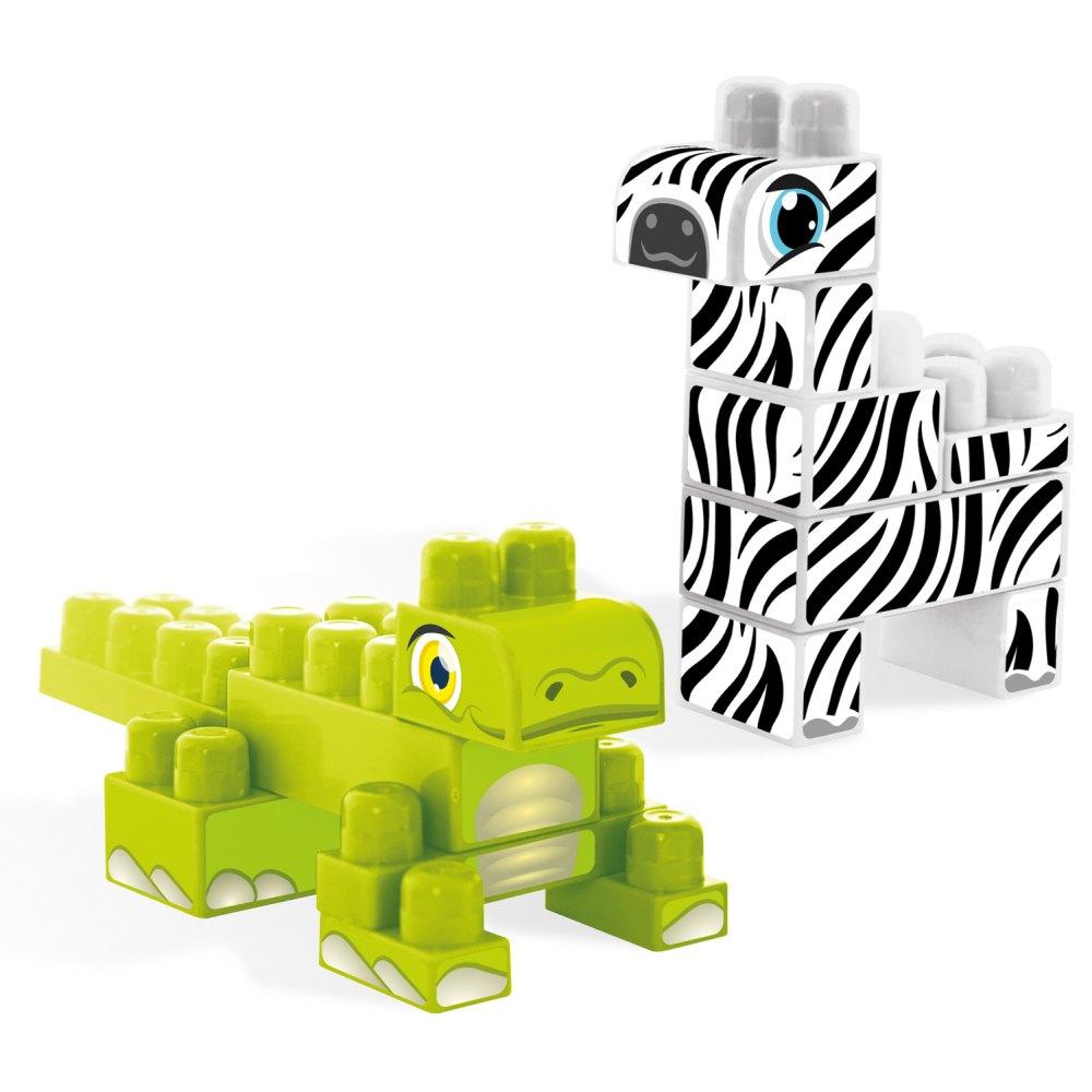 Wader klocki baby blocks Safari crocodile & zebra 16 szt 41491