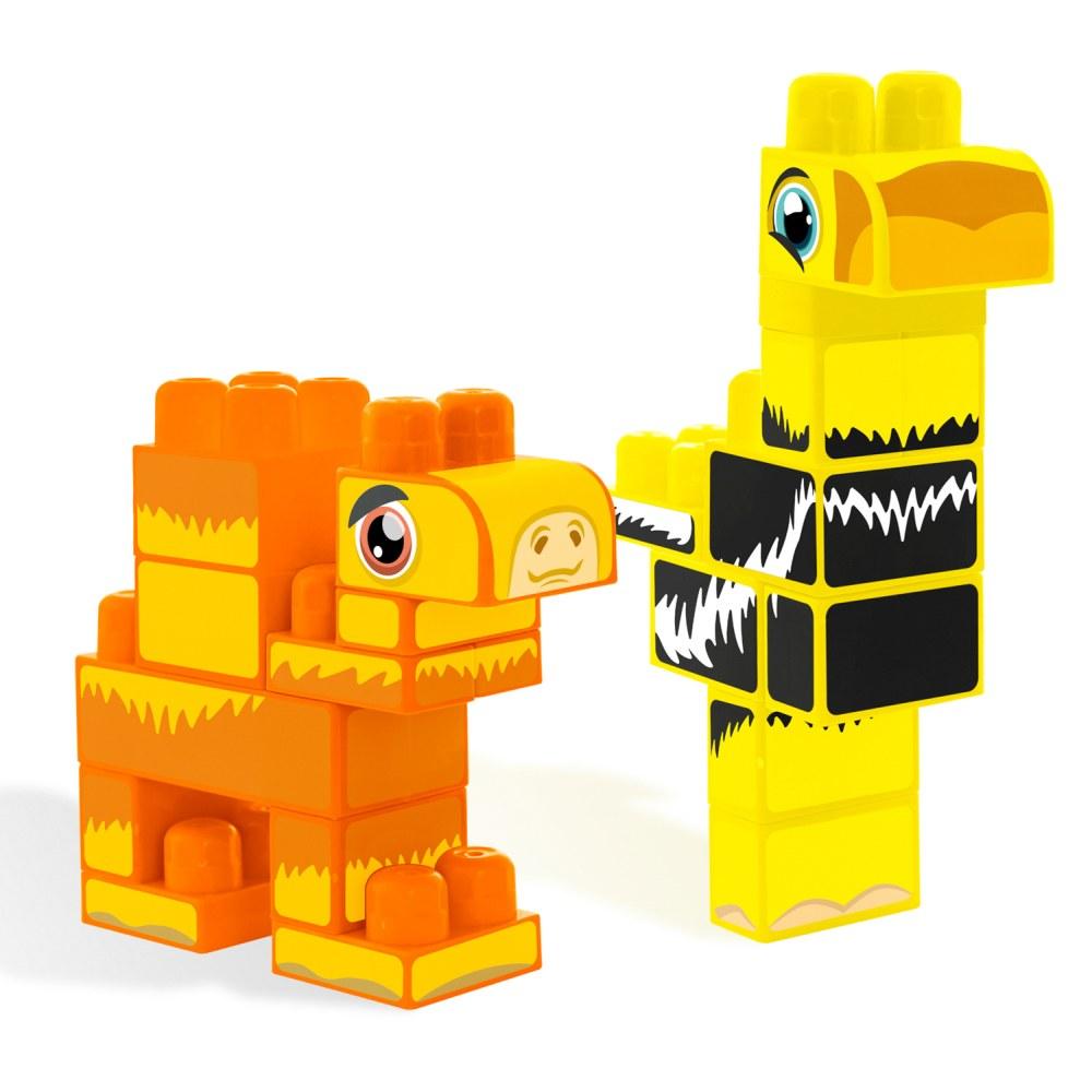 Wader klocki baby blocks Safari Ostrich & Camel 20szt 41491