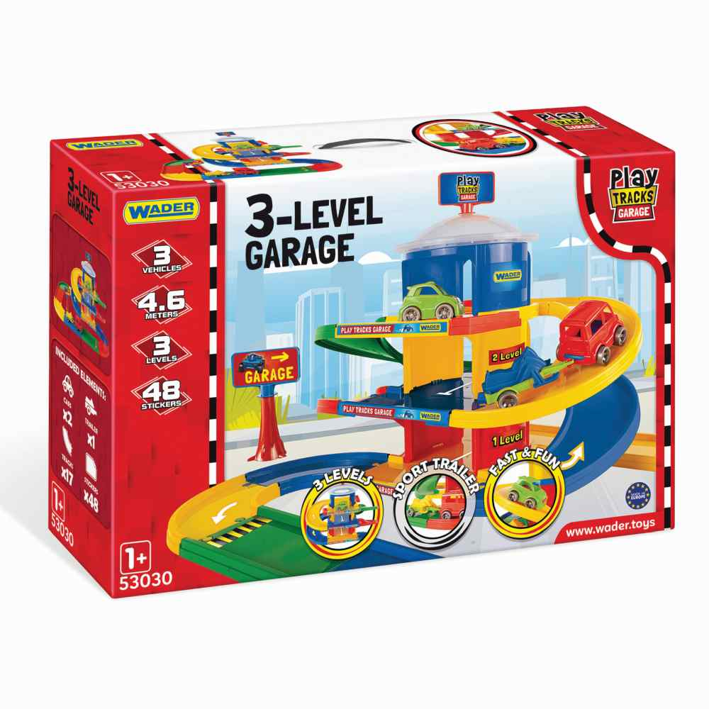 Wader garaż 3 poziomy Play Tracks Garage trasa4,6 mb 53030