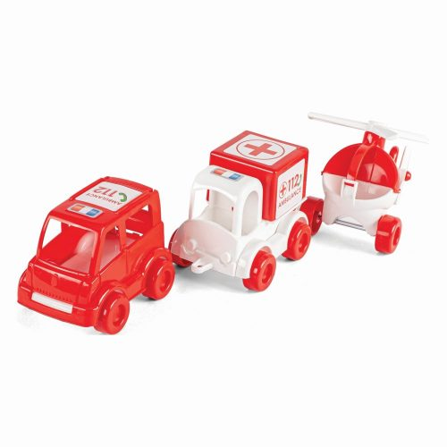 Wader zestaw 3 samochodzików Kid Cars Ambulance 60020