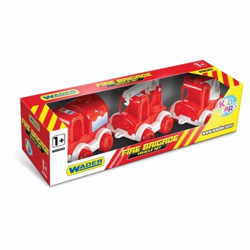 Wader zestaw 3 straży pożarnych Kid Cars Fire Brigade 60020