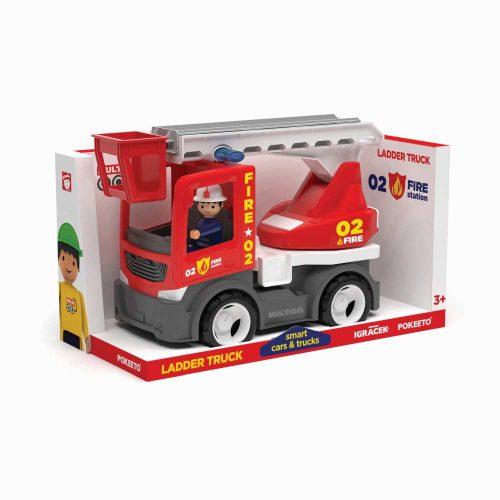 Wader Multigo Fire ciężarówka z drabiną i strażakiem EF27279
