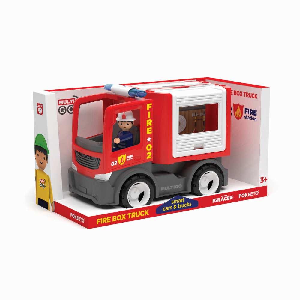 Wader Multigo Fire straż pożarna multibox ze strażakiem EF27281