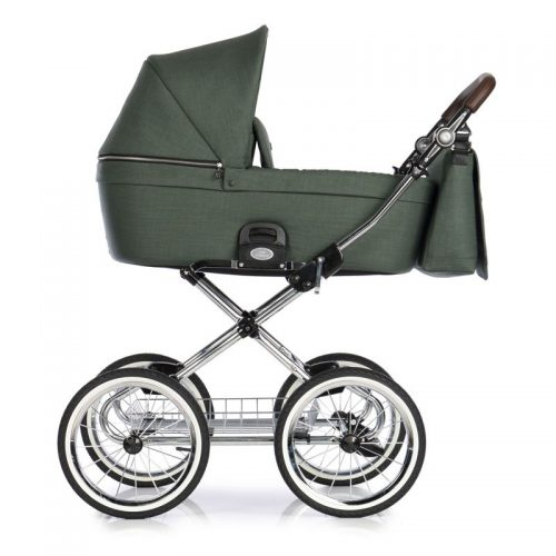 Roan Coss Classic wózek głęboko spacerowy w stylu retro zestaw 2w1 kolor Night Green