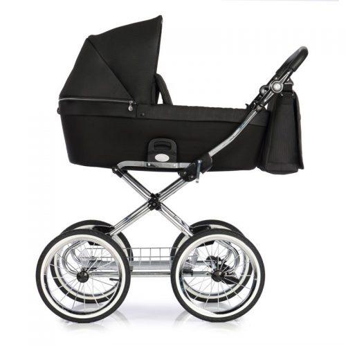 Roan Coss Classic wózek głęboko spacerowy w stylu retro zestaw 2w1 kolor Dark Glow