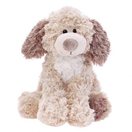 Pluszak zabawka maskotka dla dziecka Beppe Piesek Addy z białym brzuszkiem 20 cm ecru