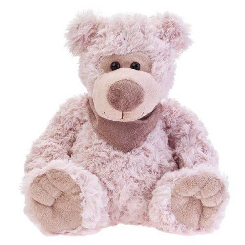 Pluszak zabawka maskotka dla dziecka Beppe Miś BRUNO 25 cm pudrowy róż