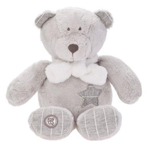 Pluszak zabawka maskotka dla dziecka Beppe Miś GULIANO 25 cm szary