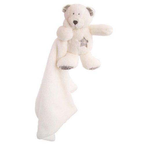 Pluszak zabawka maskotka dla dziecka Beppe Miś  GULIANO  biały  przytulanka  doudou 27x37