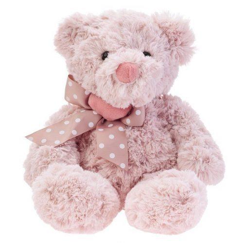 Pluszak zabawka maskotka dla dziecka Beppe Miś Maurizio pudrowy róż 28 cm