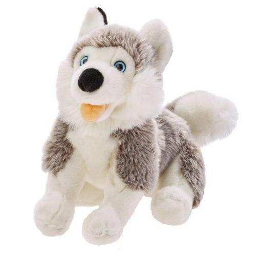 Pluszak zabawka maskotka dla dziecka Beppe Pies Husky 28 cm leżacy PD