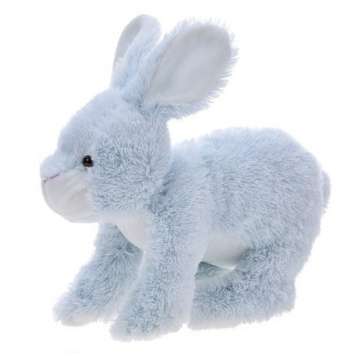 Pluszak zabawka maskotka dla dziecka Beppe królik Kiki siedzacy 26cm niebieski