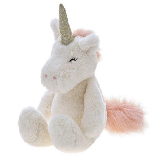 Pluszak zabawka maskotka dla dziecka Beppe Jednorożec Alessio kremowy 28cm