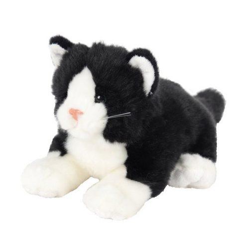 Pluszak zabawka maskotka dla dziecka Beppe Kot leżący czarny 30cm
