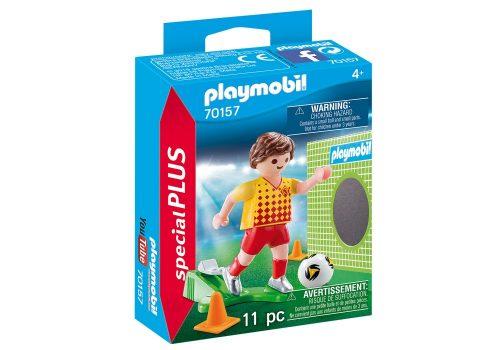 Playmobil piłkarz ze ścianką treningową 70157