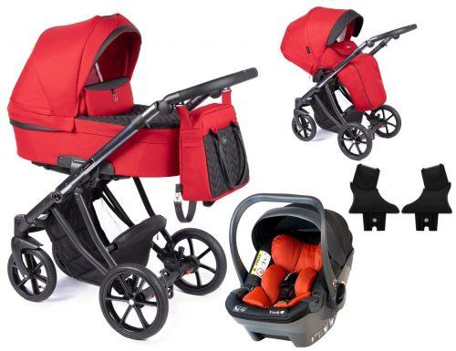 Coletto Dante wózek głęboko spacerowy 3w1 z fotelikiem BabySafe York kolor D-02 rama Anodowana