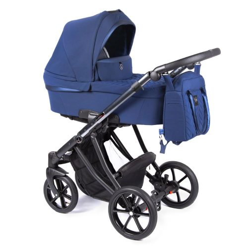 Coletto Dante lekki wózek głęboko spacerowy zestaw 3w1 z fotelikiem BabySafe York kolor D-03 rama Anodowana