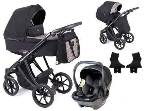 Coletto Dante wózek głęboko spacerowy 3w1 z fotelikiem BabySafe York kolor D-05 rama Anodowana