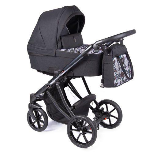 Coletto Dante lekki wózek głęboko spacerowy zestaw 3w1 z fotelikiem BabySafe York kolor D-09 rama Anodowana