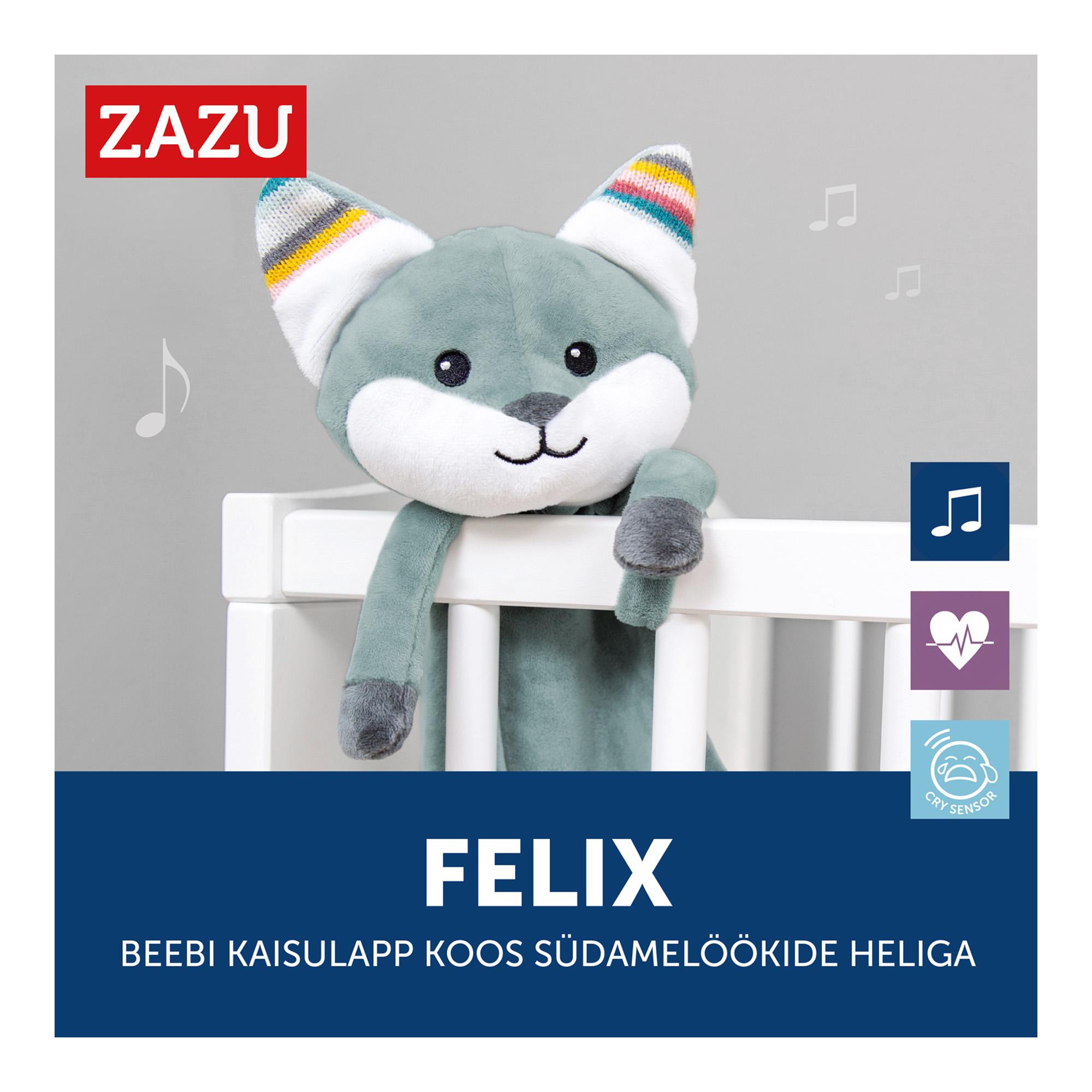 Szumiąca przytulanka dla  niemowląt Zazu Felix lis mietowy