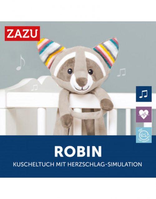 Zazu szumiąca przytulanka dla niemowląt Zazu Robin szop beżowy