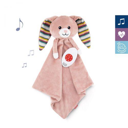 Szumiąca przytulanka dla niemowląt Zazu Backy królik różowy